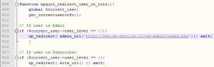 קוד הפניית משתמש לאחר התחברות בוורדפרס