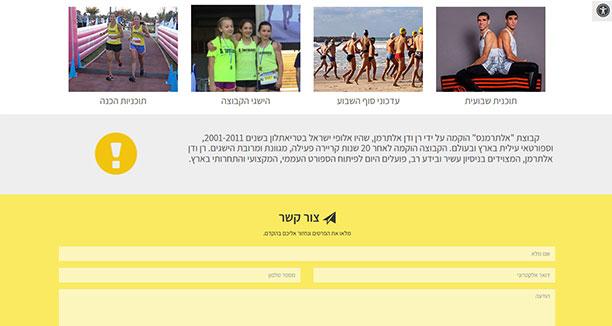 צילום מסך של עמוד הבית - אתר אלתרמנס